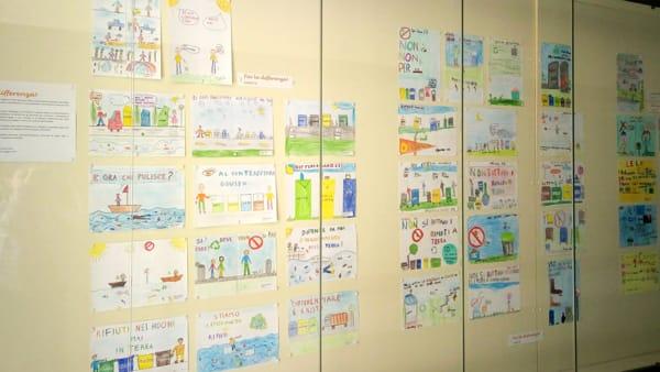 Raccolta differenziata in mostra: a Santa Sofia i manifesti realizzati dalle scuole