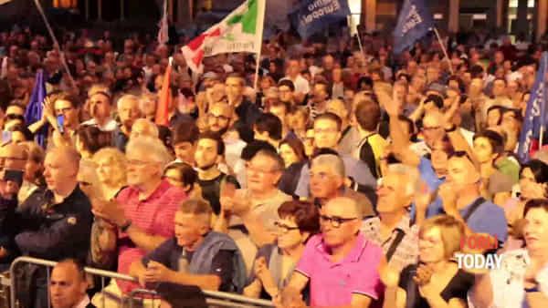 """Calderoni in piazza Saffi: """"Chi è il vero candidato sindaco a Forlì? Zattini o Salvini?"""