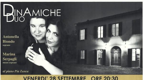 """Il """"DinAmiche Duo"""" in concerto a Villa Saffi"""