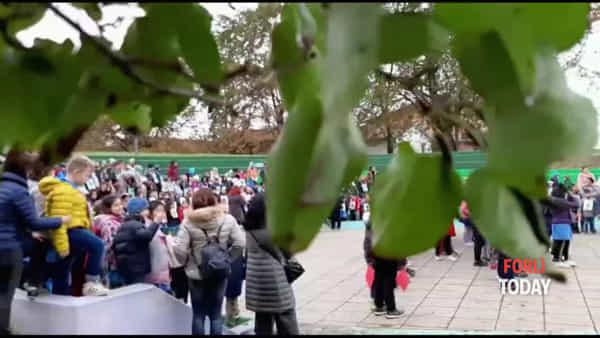"""Il Parco si arricchisce di un piccolo frutteto: 400 bimbi cantano e colorano la """"Festa degli alberi"""""""