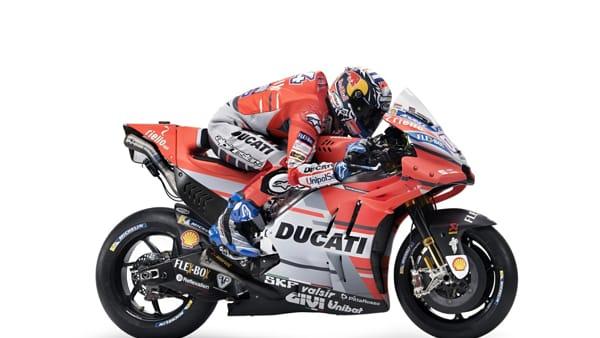 MotoGp, si tolgono i veli alla nuova Ducati di Andrea Dovizioso: la diretta video