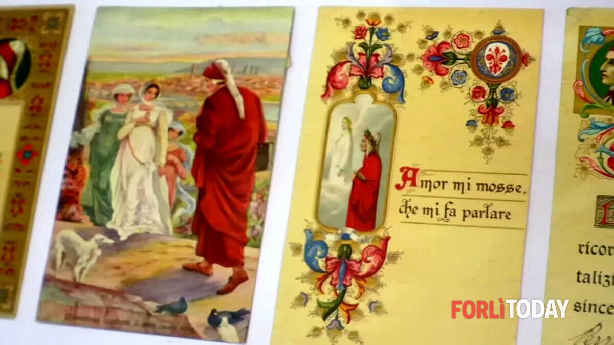 """""""Io, il cittadone e Dante"""": mostra di cartoline storiche, medaglie celebrative e francobolli con l'iconografia di Dante"""
