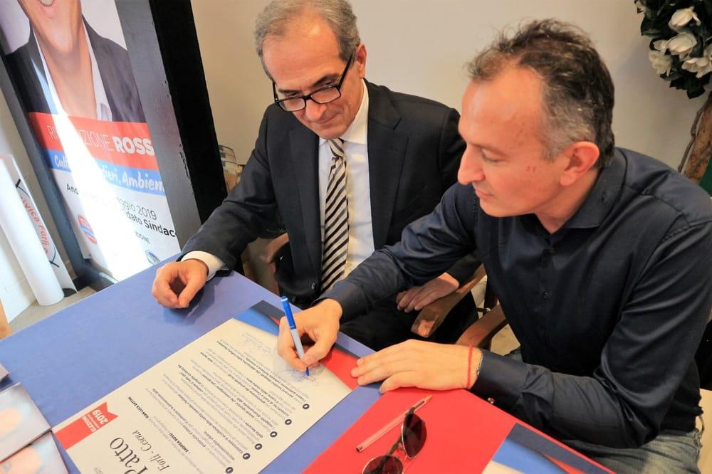 """7634fd7e1 Firmato un """"Patto"""" tra i candidati sindaci del centro destra Gian Luca Zattini  per Forlì e Andrea Rossi per Cesena che ha per base la collaborazione tra  ..."""