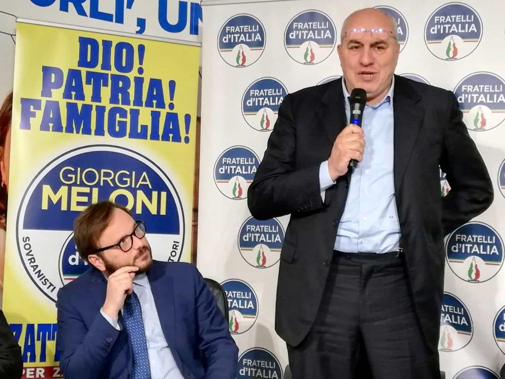 5529e6848 Ha portato il suo sostegno al candidato sindaco del centrodestra Gian Luca  Zattini e a Davide Minutillo