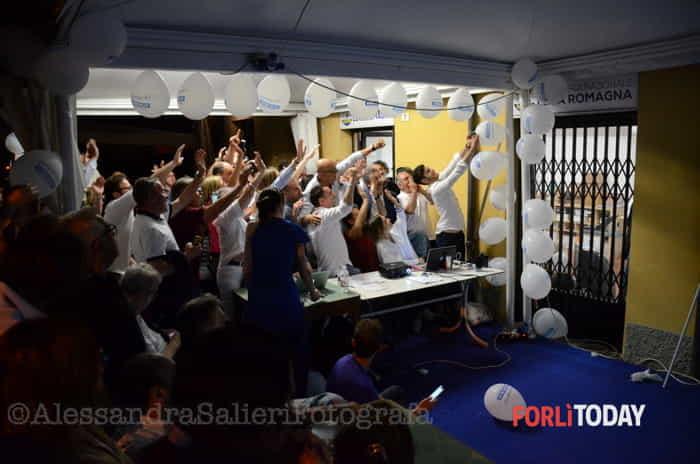 Zattini nuovo sindaco di Forlì: le foto della festa