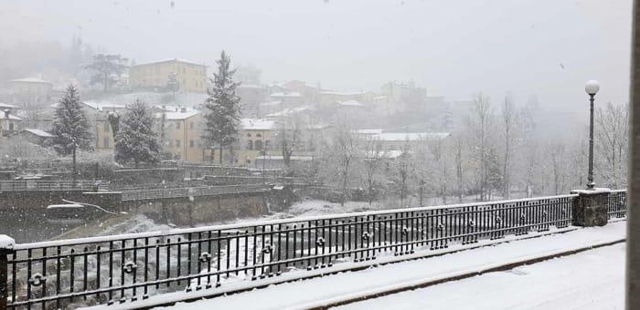 La nevicata in collina del 25 marzo 2020