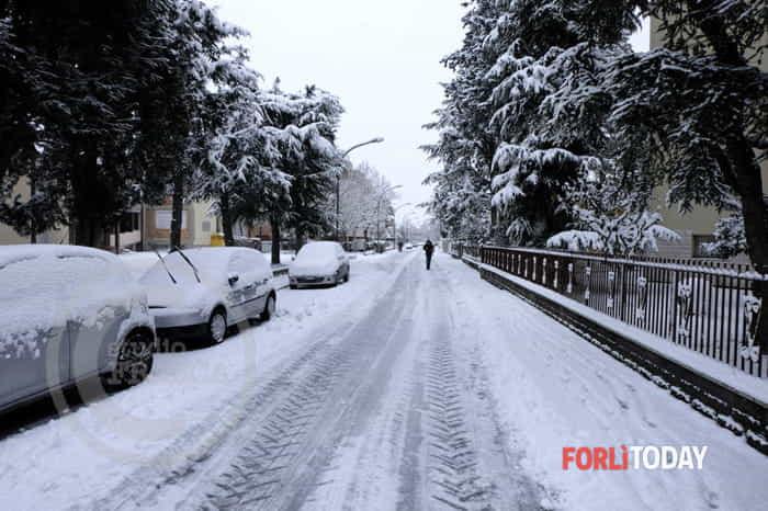 La neve imbianca Forlì, 27-2-2018