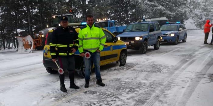 La neve imbianca l'entroterra, dieci centimetri sul Muraglione (14-12-2018)