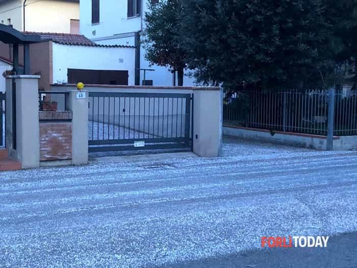 Neve tonda a Forlì, 10-01-2019