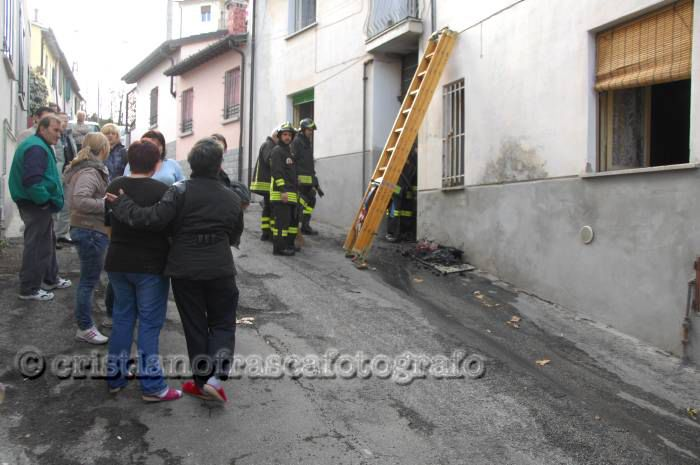 Incendio in via Don Minzoni